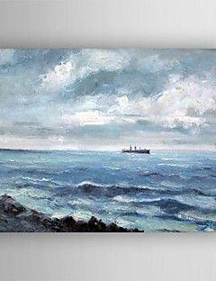 olio pittura di paesaggio a mano mare tele dipinte con allungata incorniciate