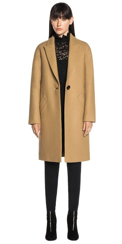 CUE - Camel Wool Relaxed Coat