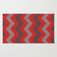 Area & Throw Rug featuring Multi Colored ZIG-ZAG 2 by gypsykissphotography