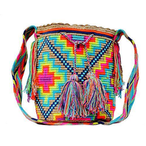 Wayuu Mochila Bag - Large - Handmade in Colombia by Indig...