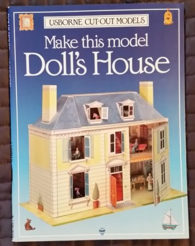1993-USBORNE-CUT-OUT-MODELS-MAKE-THIS-DOLL-HOUSE-PROJECT-BOOK-ENGLAND