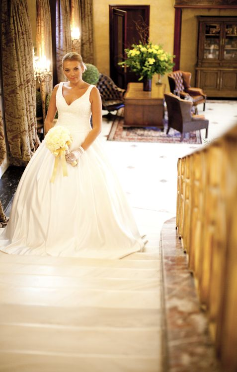 The Grand Staircase, an ideal spot for majestic bridal photography