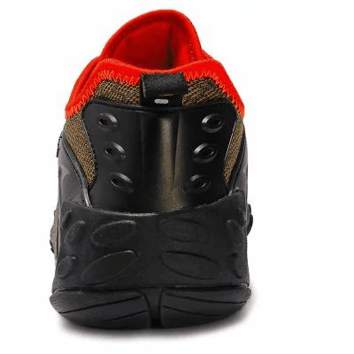 Main Features:  - Breathable mesh upper  - Sweat-absorbent cotton lining  - Convenient lace-up fastening  - Crashworthy TPU toe cap  - Padded cuff and tongue for comfort  - Wearable and anti-slip rubber outsole  - Season: spring, summer, autumn - Suitable for running, hiking, camping, mountaineering, travel, and other outdoor sports  - For male