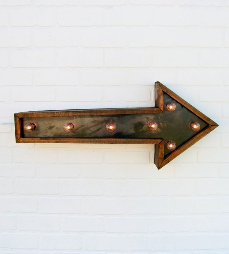 Small Arrow Marquee Light | Home Lighting | Against the Woodgrain | Scoutmob Shoppe | Product Detail