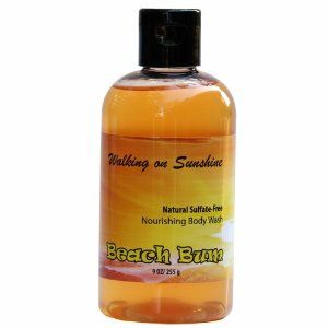 Walking on Sunshine! Sulfate-Free Body Wash - Ships FREE by Beach Bum. $15.00. This bath and shower gel is free of harsh chemicals, parabens, fragrances and dyes. Not tested on animals.. Sulfate Free Natural Organic Body wash with Lemongrass and rosemary essential oils to wake and energize. Perfect for mornings!.. This is a gentle foaming sulfate-free wash for a clean and refreshed feeling.. This body Cleanser is rich in vitamin E and vitamin B5 (panthenol) to nourish and bea...