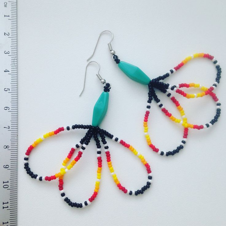 Pocahontas seedbeads beaded earrings