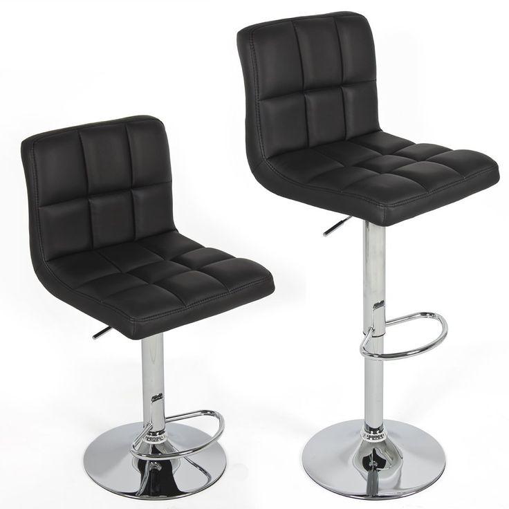 amazoncom chic modern adjustable swivel bar stools black set of 2 - Amazon Bar Stools