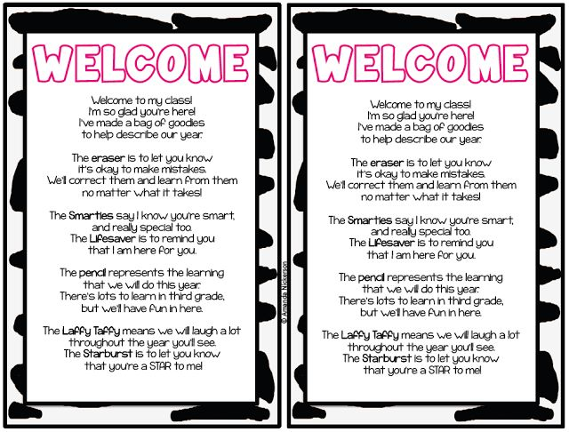 The 25 best parent welcome letters ideas on pinterest preschool welcome letter for baggies spiritdancerdesigns Choice Image