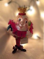 Gisela Graham Christmas Painted Glass Humpty Dumpty Tree Decoration Retro