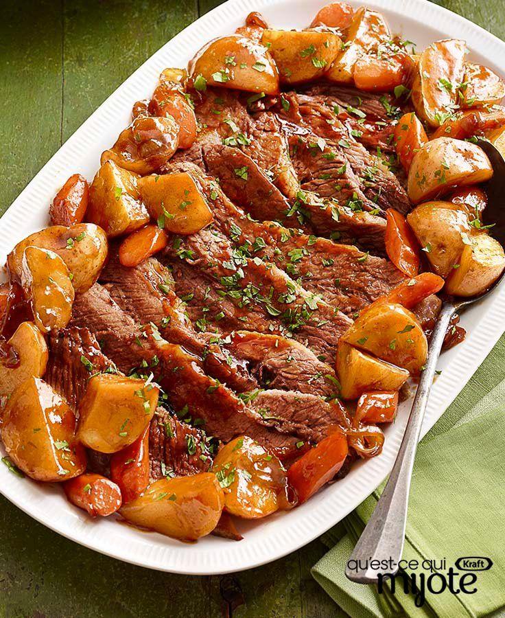 Pointe de poitrine de bœuf barbecue cuite au four #recette