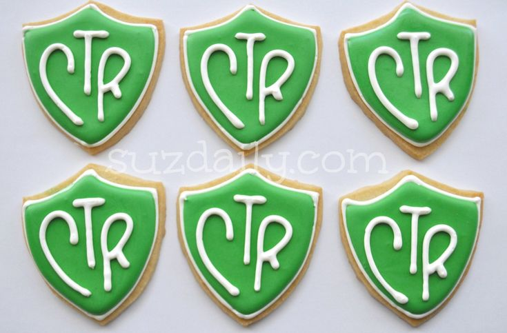 lds baptism ideas | CTR Cookies for a Missionary Package