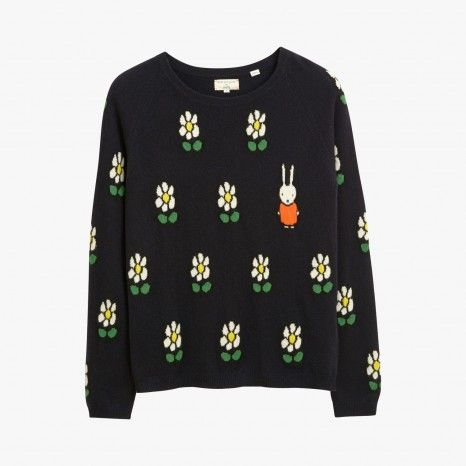 Pull en cachemire Miffy marguerites - CHINTI AND PARKER