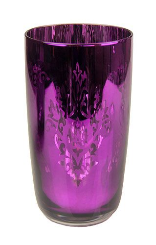 Metallic Purple Drinking Glass