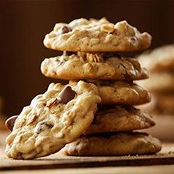 Granola is a delicious addition to these classic chocolate chip cookies.