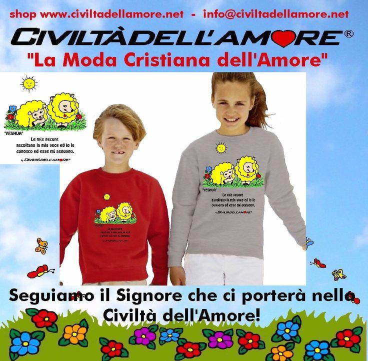 Le pecorelle che seguono il Signore indossano la moda di Civiltà dell'Amore! Per questi modelli segui la guida all'acquisto: http://www.civiltadellamore.net/guida-allacquisto/