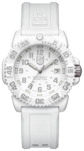 Luminox Women's Navy SEAL Colormark 7050 Series Rubber Watch - White * Check out the image by visiting the link.