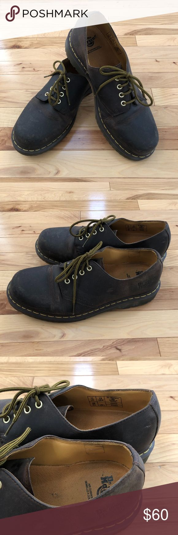 Dr. Marten's Original Men's shoe Men's Dr. Martens Original 8053 DMC shoe, size 12. In gently used condition, maybe worn 2-3 times with minor marks on leather from normal wear. Details of the shoe include full, premium leather uppers, lace up closure, air cushioned sole, heat-sealed and slip resistant. Lots of life left in these shoes, simply reducing the amount of shoes I have! Feel free to make a reasonable offer! :) Dr. Martens Shoes