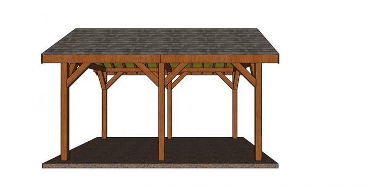 12x16 Backyard Pavilion - Free DIY Pavilion ...