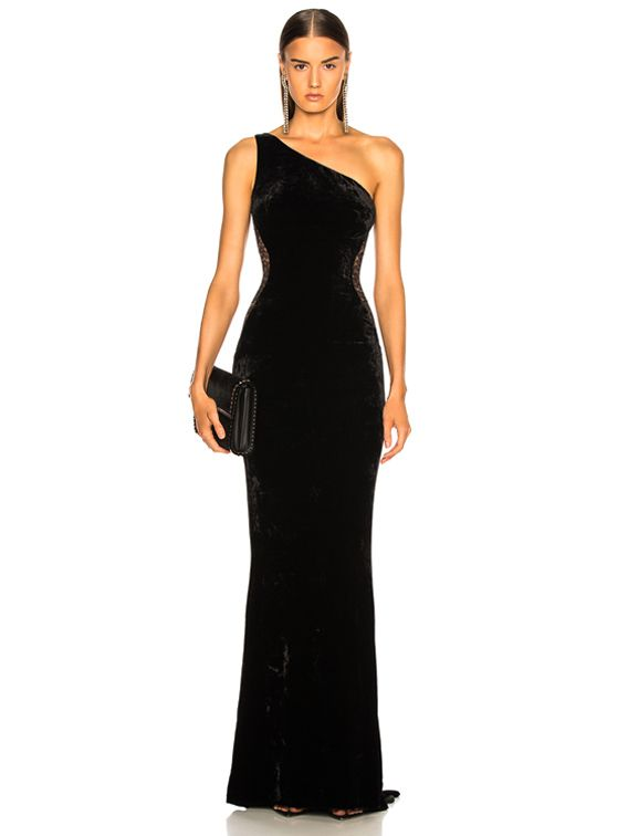 90c74bc18728 Stella McCartney One Shoulder Gown in Black
