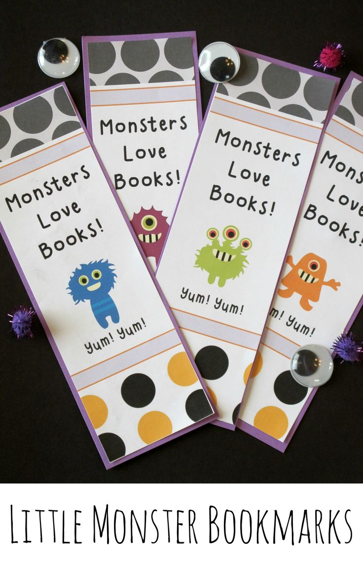 Eek! Little Monster Bookmarks are perfect for October reading rewards or Halloween party favors. (Free) #freeprintables #tpt #literacy