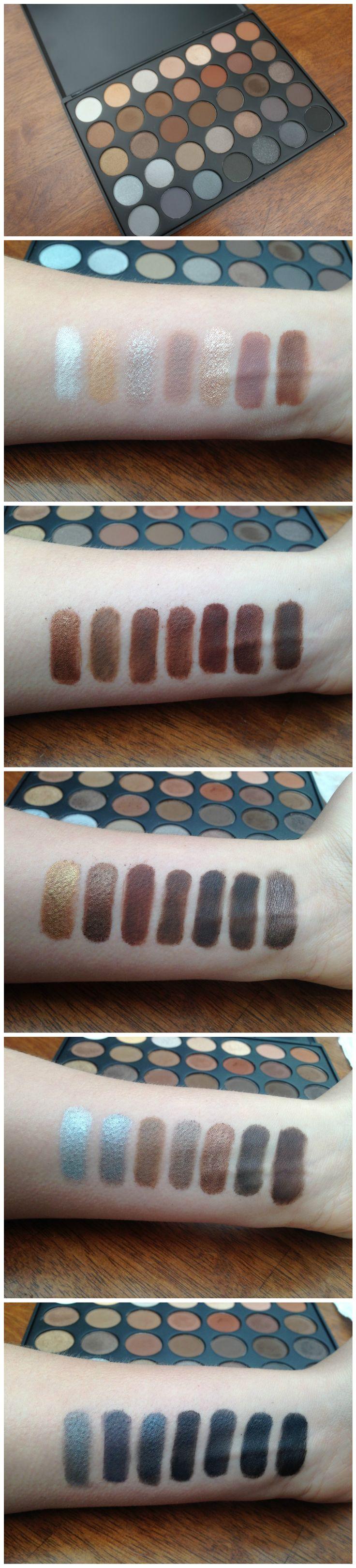 Morphe 35k eyeshadow palette review beauty in bold - 35k Koffee Palette Review