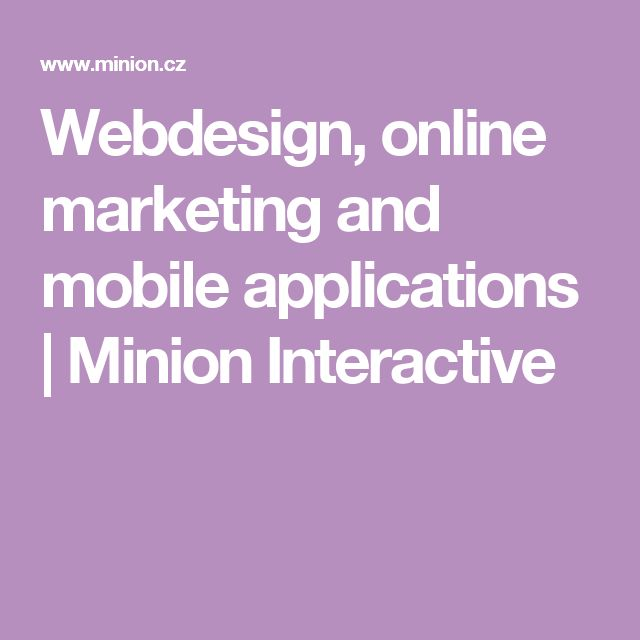 Webdesign, online marketing and mobile applications | Minion Interactive