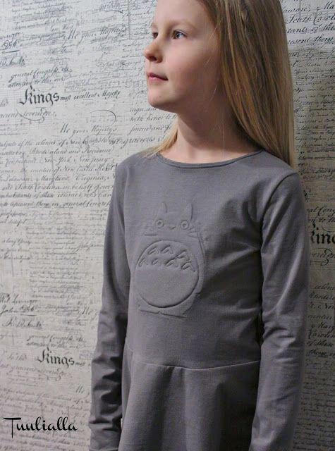 Peplum tunic with Totoro applique