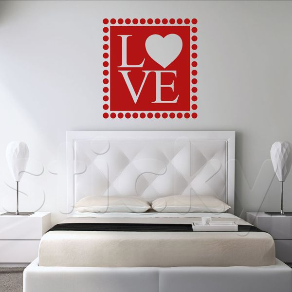 Wall Sticker LOVE SQUARE by Sticky!!!
