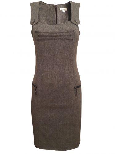 Дамска рокля сукман в сиво-кафяво
