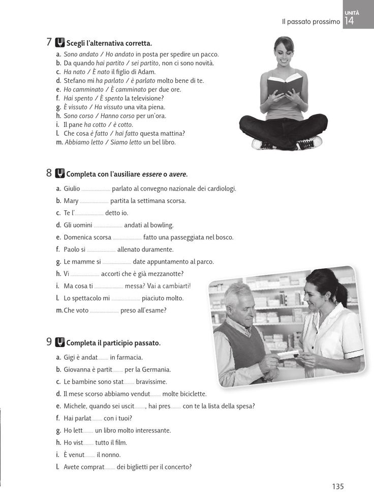 Passato prossimo - Grammatica italiana di riferimento