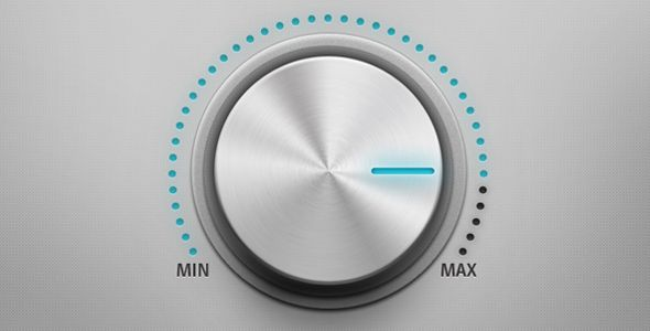 clean metal sound control knob - ui design