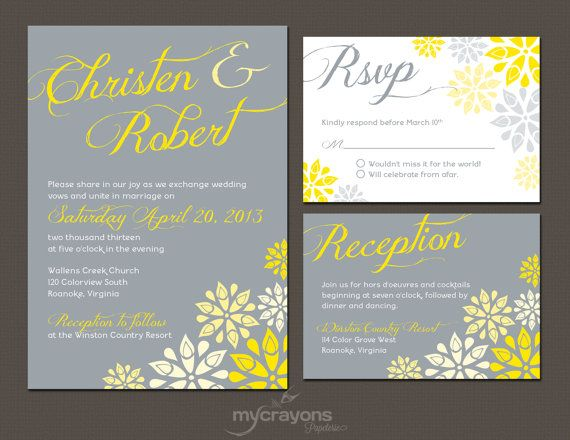 Wedding Invitations Grey: 36 Best Images About Printable Invitations Wedding On