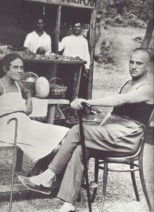 Lili Brik et Vladimir Maïakovski, Yalta, été 1926