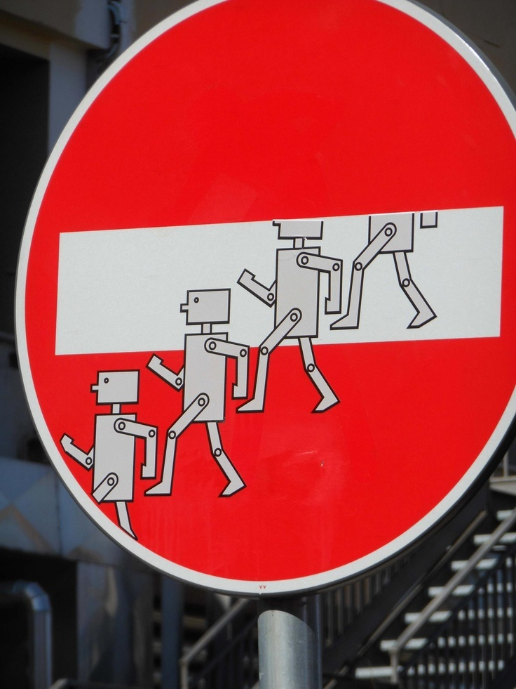 CLET » no entry » robots