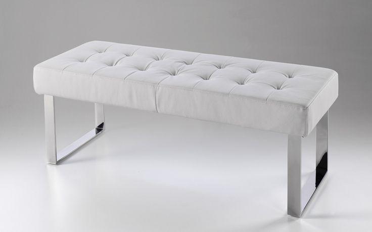 Banco pie de cama acolchado crudo - Pie de cama color crudo