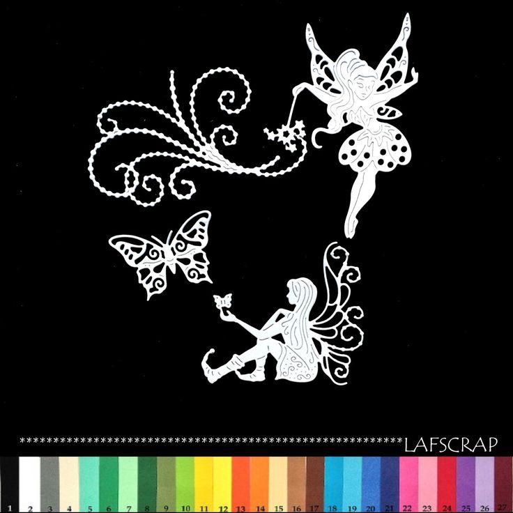 découpes scrapbooking fée baguette magique perle papillon bébé naissance princesse robe embellissement die cut déco : Embellissements par lafscrap