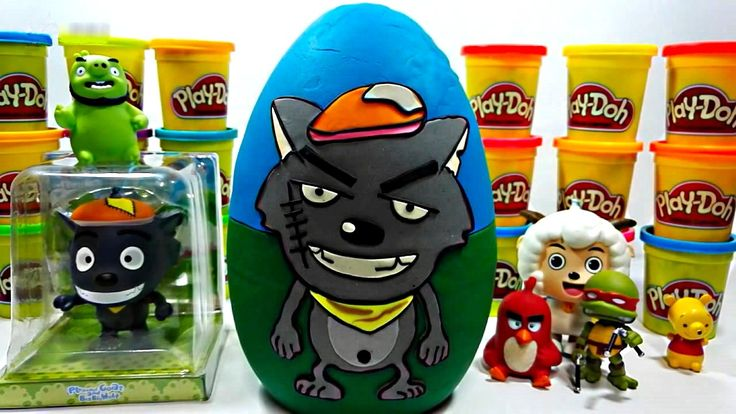 Wolf Play Doh Giant Egg English Episodes Wolf Play Doh Full Episodes – K...