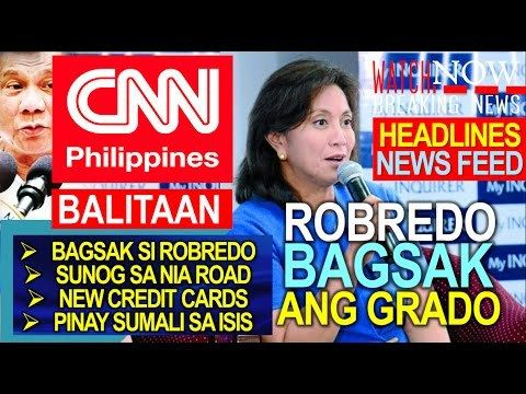 VP LENI ROBREDO BUMAGSAK ANG SWS RATING | CNN PHILIPPINES BALITAAN | DECEMBER 28, 2016 - WATCH VIDEO HERE -> http://dutertenewstoday.com/vp-leni-robredo-bumagsak-ang-sws-rating-cnn-philippines-balitaan-december-28-2016/   Welcome to my channel.  You are in a 'one-stop-news-channel'! NEWS TV is a place where you can find news updates and latest trends in the Philippines. We grab the best stuffs and reupload here.  What's new in politics, entertainment, culture,