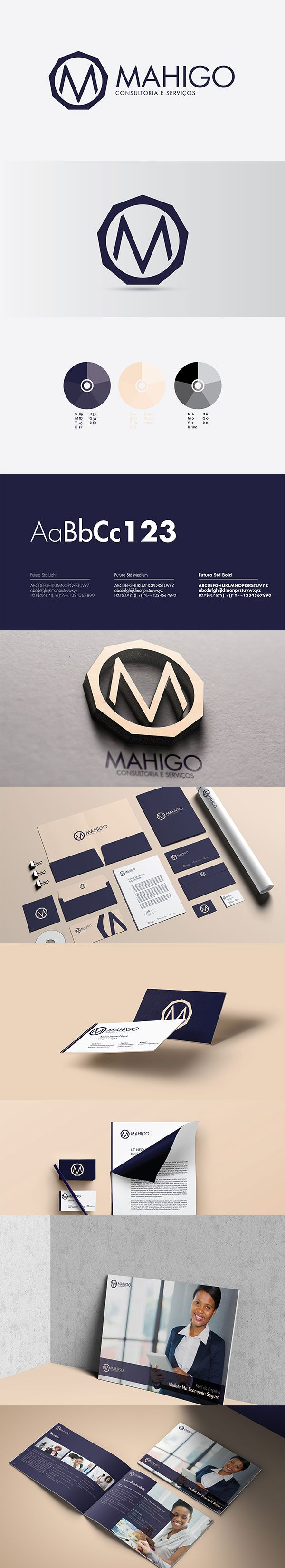 Mahigo is a newly established consulting company specialized in gender equality and women empowerment. They provide national and international consultancy services that promote female entrepreneurship. They also provide micro credit for female start ups. Thus, the brand was developed with the feminine audience in mind. Luxurious and bold color pallets and typography were used.  Enjoy!
