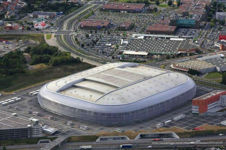 Grand Stade Lille Metropole, Lille (France). Nice stadium, built in 2012 with a retractable roof and one of the largest in France.