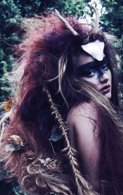 Where the Wild Things Are mixed with a female Lost Boy slash Princess Mononoke??