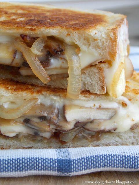 Shopgirl: Mushroom & Caramelized Onion Grilled Cheese