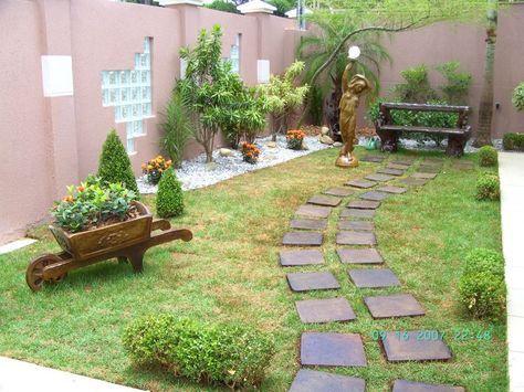 jardins residenciais pequenos dicas fotos e modelos terrace garden garden paths garden - Pinterest Jardin