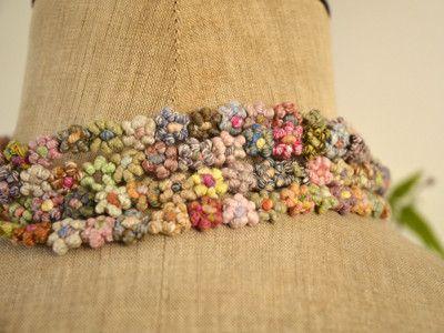 Sophie Digard / fleurs linen necklace