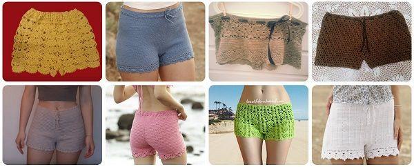 Come realizzare un pantaloncino da donna a uncinetto. Raccolta di schemi e video tutorial per pantaloncini da spiaggia o da città.