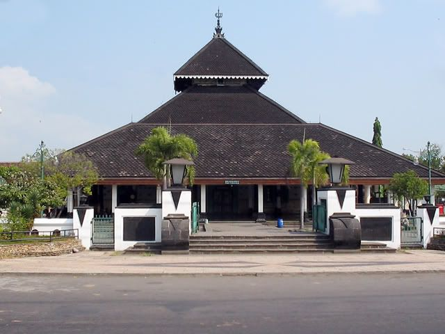 Masjid Agung Demak built in year 1474 in Indonesia.