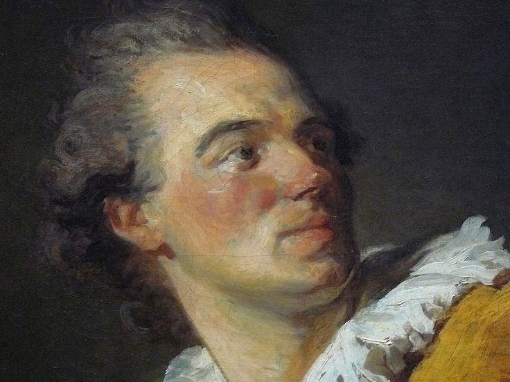 FRAGONARD Jean-Honoré,1769 - L'Inspiration, Portrait de Louis-François Prault (Louvre) - Detail ...