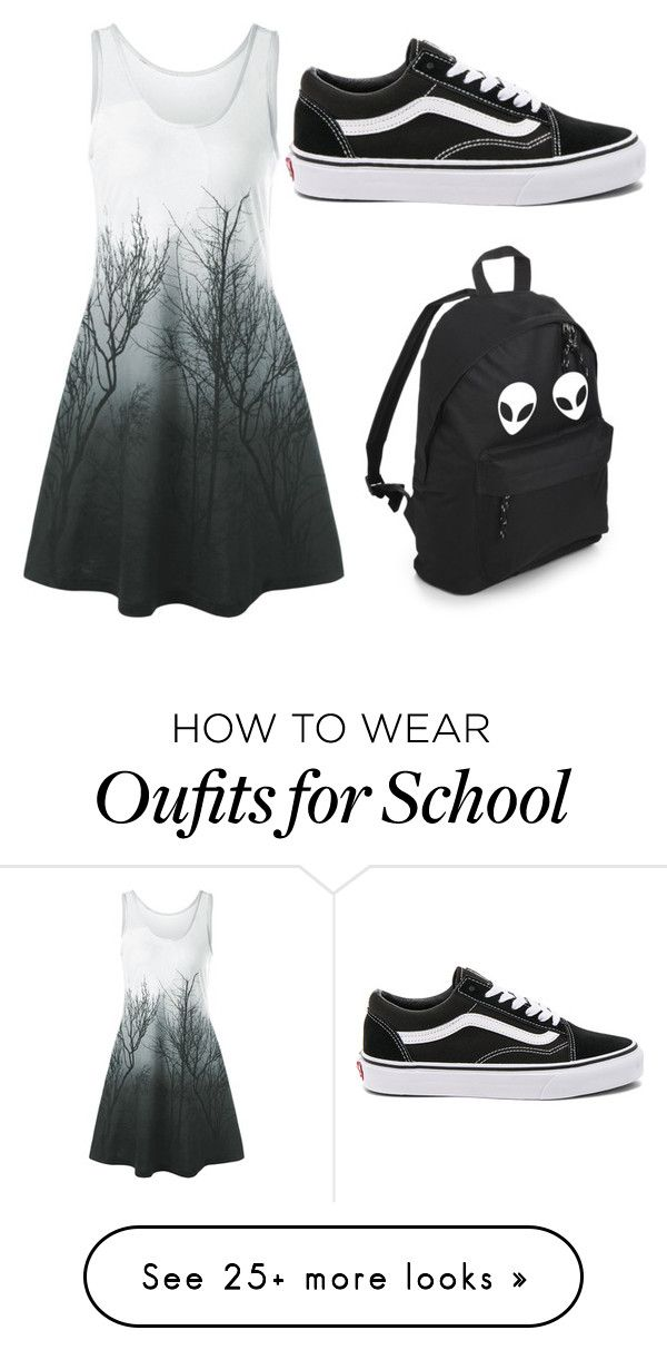 """dark"" by yoongidrugs on Polyvore featuring Vans"