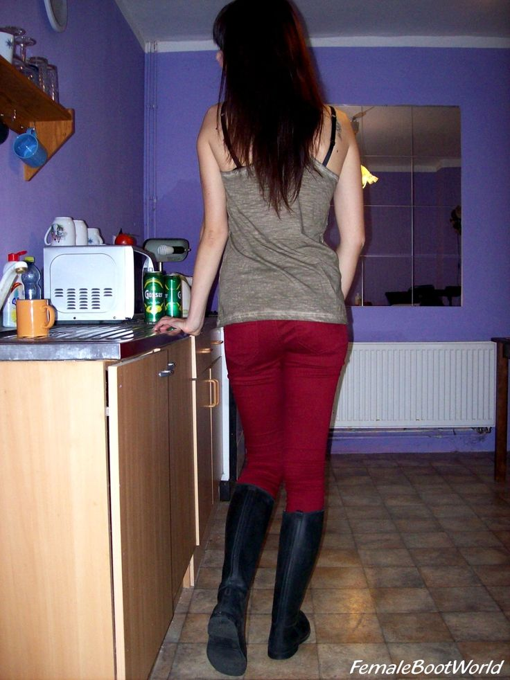 Rebecca in Riding Boots in The Kitchen