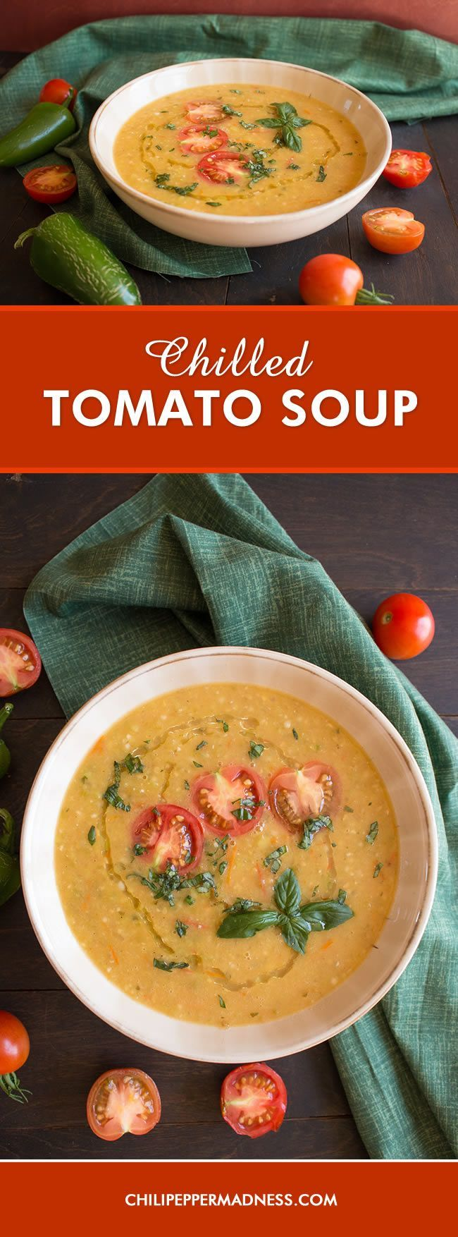 Fresh Chilled Tomato Soup (with Peppers) - A recipe for homemade soup ...